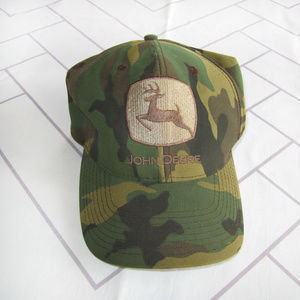 Camouflage John Deere Snapback Cap Hat